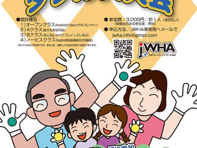 JWHA第11回 4-Wallビッグボール・ダブルス大会 組み合わせ